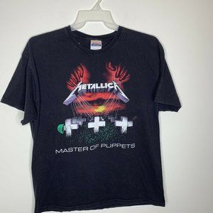 Mens XL Black Metallica Master Of Puppets 2007
